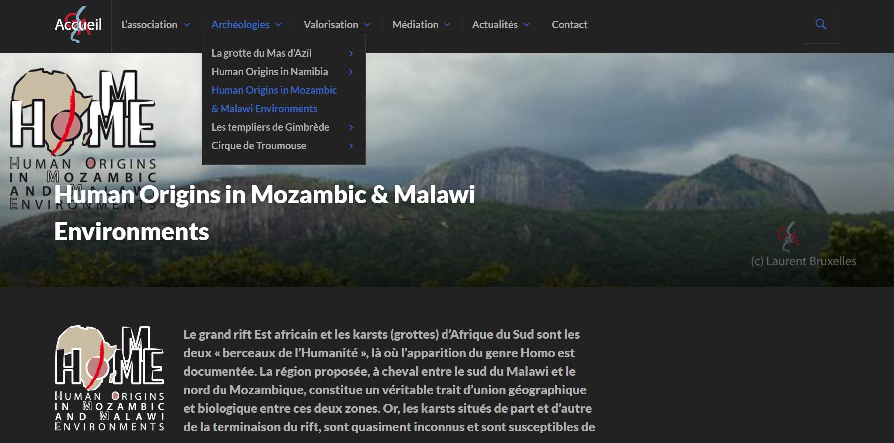 lien web vers le site Grottes&Archéologies